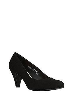 F&F Faux Suede Court Shoes - Black