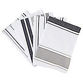 Black & White Dobby 5 Piece Tea Towels