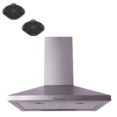 SIA CHL61SS 60cm Stainless Steel Kitchen Chimney Cooker Hood + Charcoal Filter