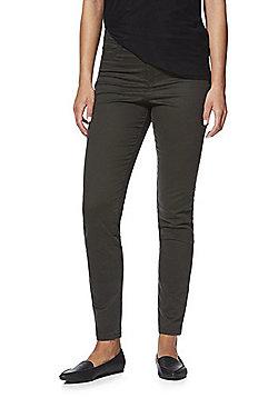 F&F Ankle Grazer Super High Rise Push-Up Skinny Jeans - Khaki