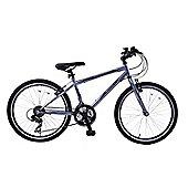 "Ammaco CS100 Boys 24"" Wheel 21 Speed Hybrid Bike Grey"