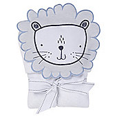 Silver Cloud Lion Hooded Towel