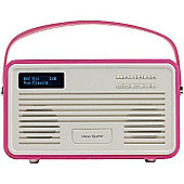 View Quest Retro ColourGen DAB+/FM Radio with iPod Dock (Hot pink, 30 Pin)