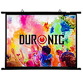 "Duronic BPS80/43 Simple Bar Wall Mountable HD Projection Screen for | Theatre | Cinema | Home – 80"" -4:3 Matte White Screen (Size: 163 X 122cm)"