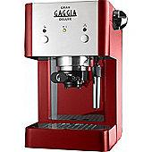 Gaggia Gran Deluxe Espresso Coffee Machine Red