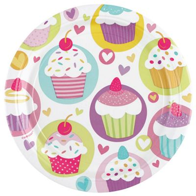 Cupcake Plates - 23cm Paper Party Plates