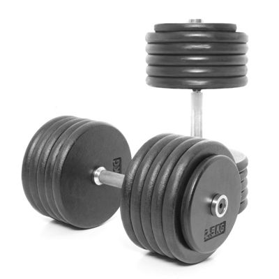 Body Power Pro-style Dumbbells 55kg (x2)