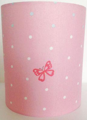Butterfly Polka Dot Fabric Light Shade