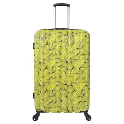Tesco Madrid Large 4 wheel Hard Shell Yellow Suitcase