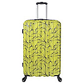Tesco Madrid Large 4 wheel Hard Shell Yellow Suitcase