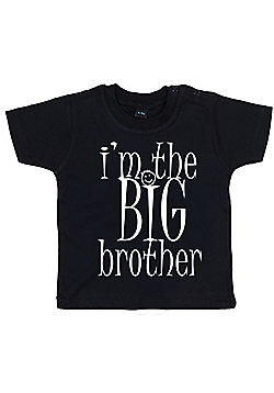 Dirty Fingers I'm the BIG Brother Baby T-shirt - Black