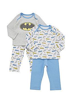 DC Comics 2 Pack of Batman Pyjamas - Multi