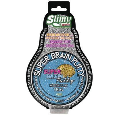 Slimy Super Brain Putty Metallic 75g Tin - Teal