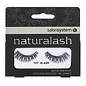 Salon System Naturalash Re-Usable Black 107 Lashes