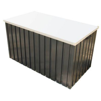 6ft x 2ft Premier Grey Metal Storage Box (1.68m x 0.68m)