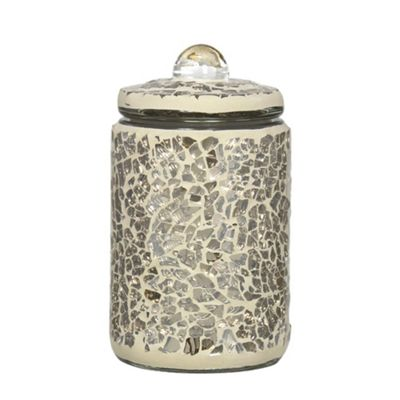 11cm Mercury Mosaic Jar WithLid