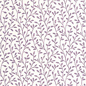Superfresco Boho Leaf Print Purple/White Wallpaper