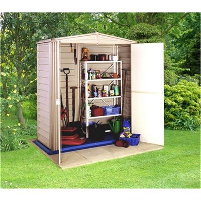5 x 3 Plastic PVC Shed With Steel Frame (1.73m x 0.97m) and Floor 5ft x 3ft