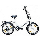 "Tiger Foldaway 20"" Wheel Unisex Folding Bike White"