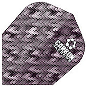 Harrows Darts Carbon Extra Tough Flights Standard Shape Pack of 10 - Purple