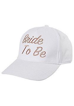 F&F Bride To Be Baseball Cap - White