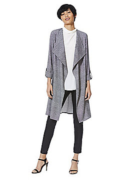 F&F Speckle Checked Waterfall Jacket - Grey