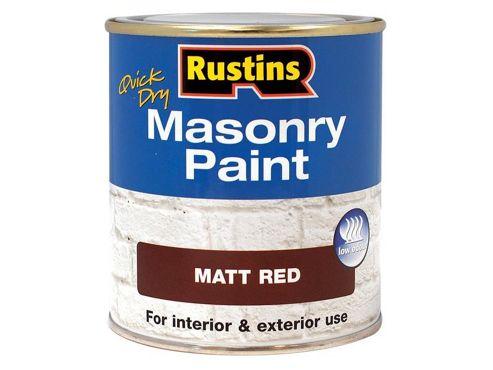 Rustins MASPR250 250 ml Masonry Paint - Red