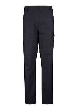 Mountain Warehouse Womens Zip-off Trousers Fast Drying Great for Travelling - Black