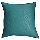 Homescapes Teal Herringbone Chevron Prefilled Scatter Cushion