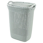Curver Knit Laundry Hamper, Blue
