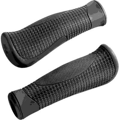 Acor Ergonomic Kraton Grips. 130mm, Black