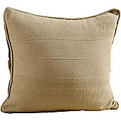 Homescapes Cotton Rajput Ribbed Beige Cushion, 45 x 45 cm