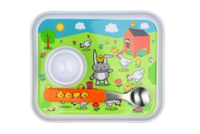 Php Tum Tum Egg Set, Includes Egg Cup, Non Slip Base And Spoon