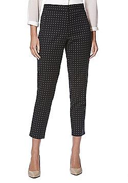 F&F Polka Dot Slim Fit Trousers - Black