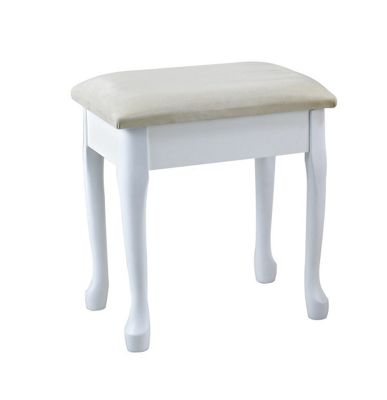 Lily Dressing Table Stool - White