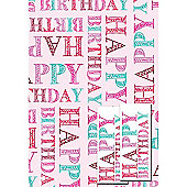 Pink Happy Birthday 2 Sheet 2 Tag Pack