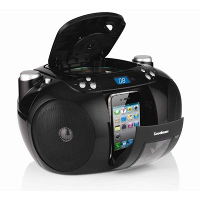 Goodmans GPS190 CD radio Boombox with iPhone/iPod dock.