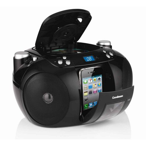 Goodmans GPS190 CD radio Boombox with iPhone/iPod dock.