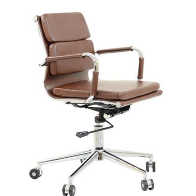office chair vintage. Chester Faux Leather Padded Office Chair Vintage Brown T