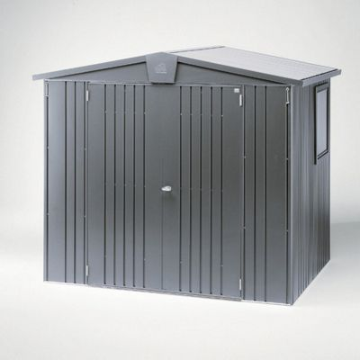 8 x 5 Premier Heavy Duty Metal Dark Grey Metallic Shed (2.44m x 1.56m) 8ft x 5ft