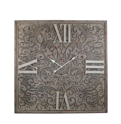 Antique Brown Tracery Wall Clock