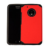 Orzly Duo-Armour Slim-Fit Dual Layer Protective Case for Moto G5 - Red
