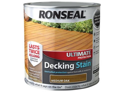 Ronseal Ultimate Protection Decking Stain Medium Oak 2.5 Litre RSLUDSMO25L