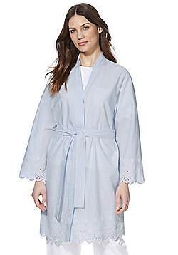 F&F Striped Dressing Gown - Blue