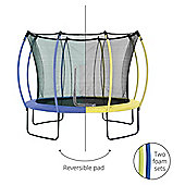 Plum 10ft Colours Springsafe Trampoline & Enclosure - Snorkel Blue & Citrus Lime