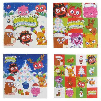 Moshi Monster Christmas Cards, 20 Pack