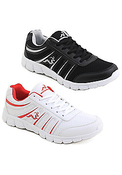 2 X Woodworm Sgs Mens Running Shoes / Trainers - Multi