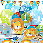 One is Fun Blue Party Pack - Deluxe Pack for 16