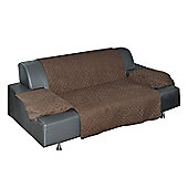 PawHut Furniture Protector for Pets and Kids Sofa Armchair Cover Mat Brown (3 Seater)
