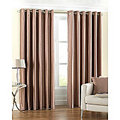 Riva Home Fiji Faux Silk Eyelet Curtains - Latte
